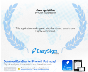 SignEasy gets recommended by a happy customer