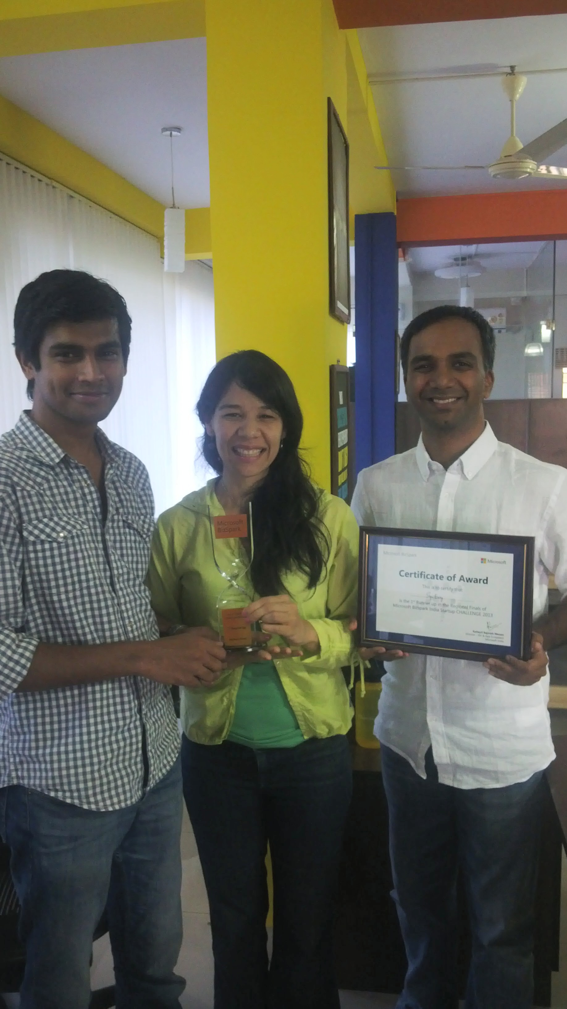 The SignEasy Team in Bangalore