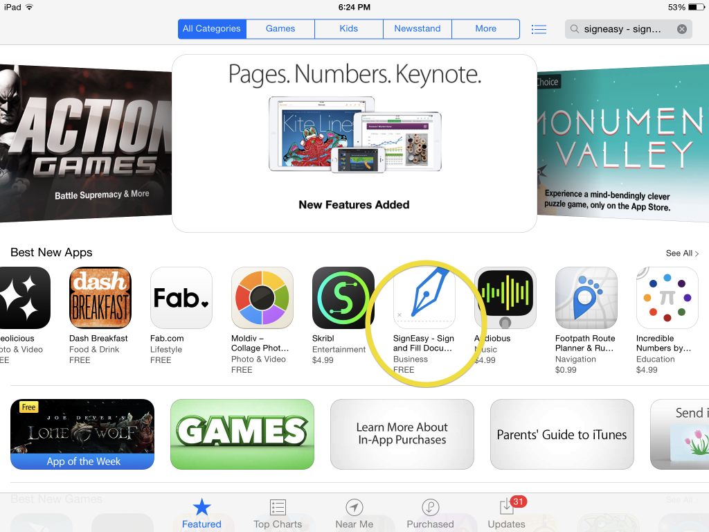 SignEasy Best New Apps on App Store