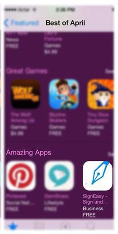 SignEasy Amazing App Feature