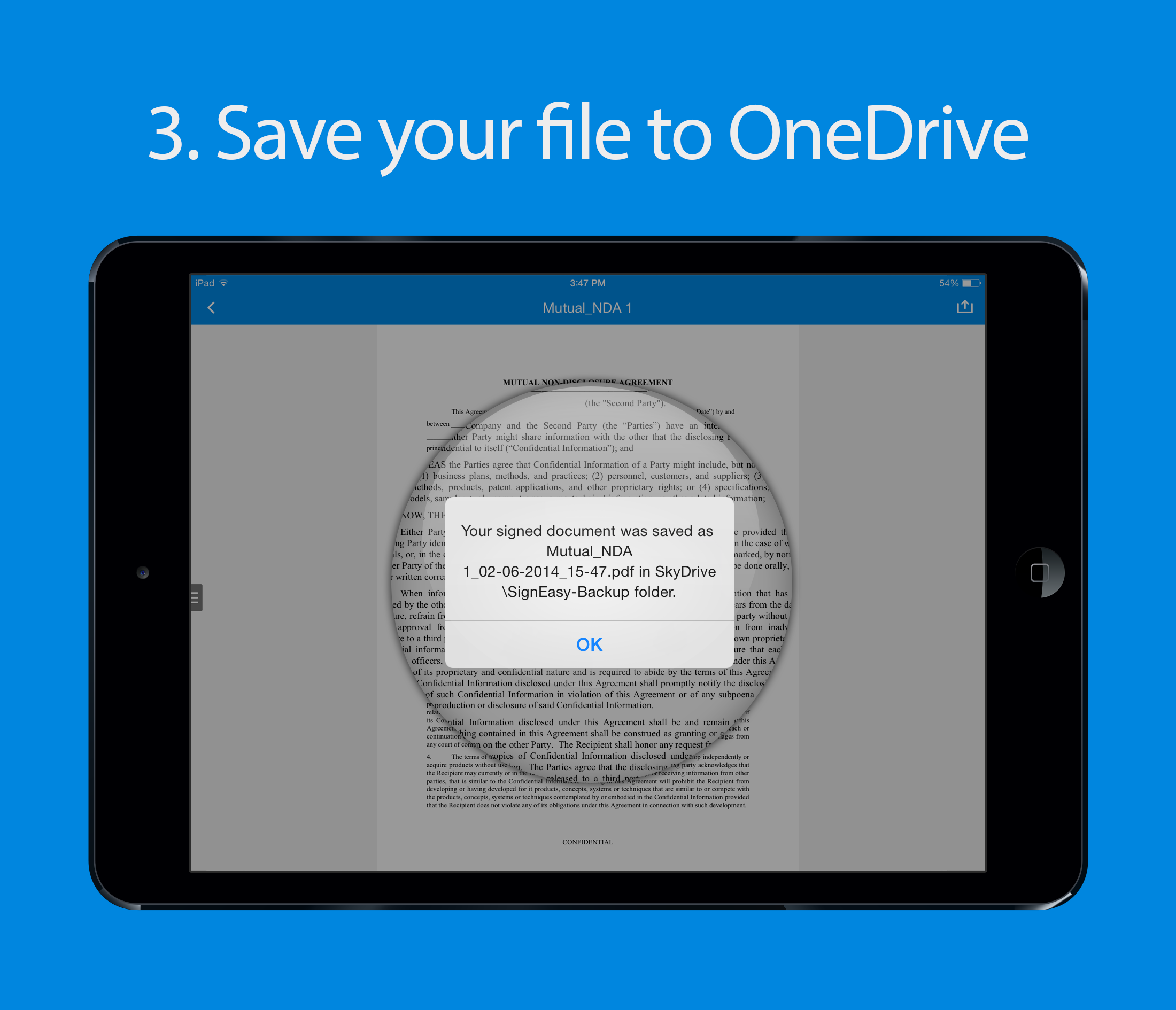 SignEasy integrates with Microsoft OneDrive - SignEasy Blog