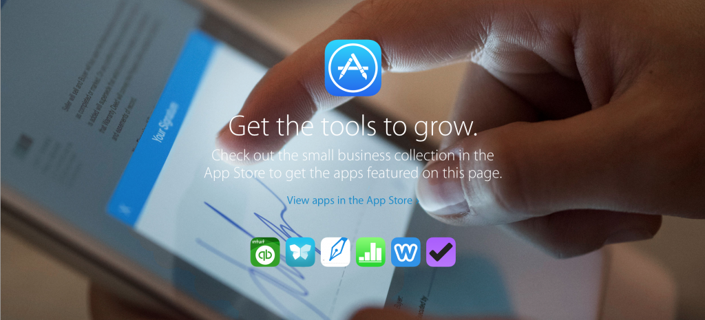 iPad Small Business feature