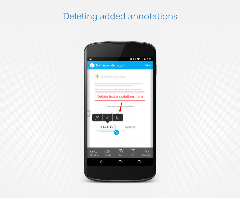 Deleting added annotations