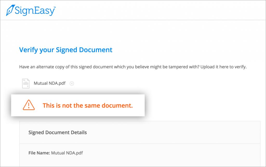 Document verified
