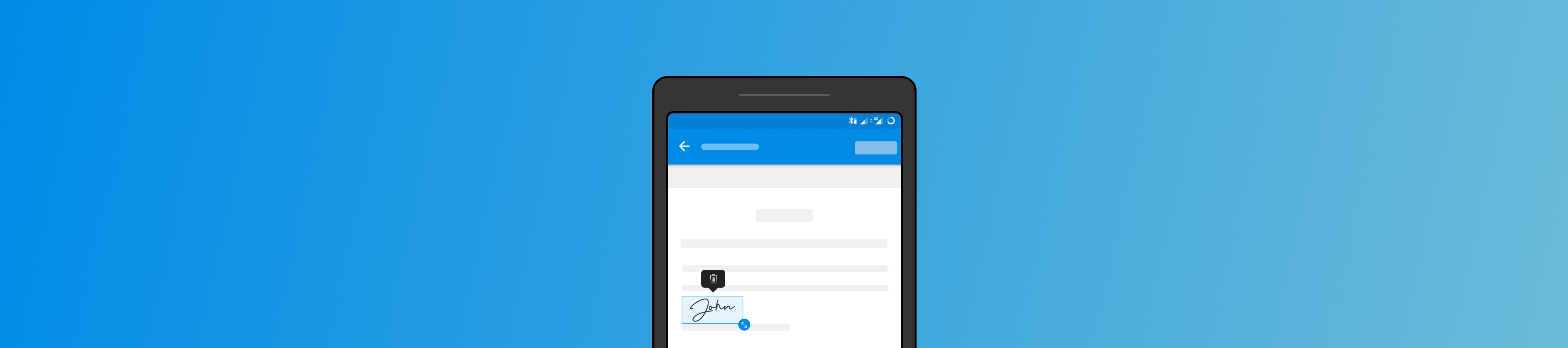 How to create an Electronic Signature on your Android device